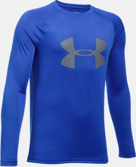Boys' UA Big Logo Long Sleeve T-Shirt LIMITED TIME OFFER 4 Colors $17.49