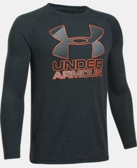Boys' UA Hybrid Big Logo Long Sleeve T-Shirt  5 Colors $34.99