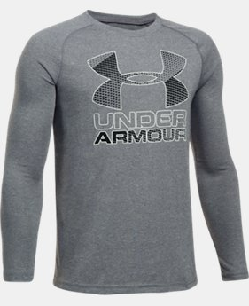 New to Outlet Boys' UA Hybrid Big Logo Long Sleeve T-Shirt LIMITED TIME OFFER  $20.99