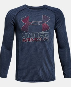 Boys' UA Hybrid Big Logo Long Sleeve T-Shirt  1 Color $22.49