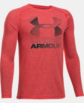 New to Outlet Boys' UA Hybrid Big Logo Long Sleeve T-Shirt LIMITED TIME OFFER 1 Color $20.99