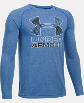 Boys' UA Hybrid Big Logo Long Sleeve T-Shirt  5 Colors $29.99