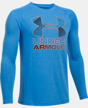 Boys' UA Hybrid Big Logo Long Sleeve T-Shirt  3 Colors $29.99