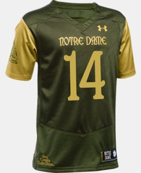 Kids' Notre Dame Shamrock Series UA Replica Football Jersey *Ships 8/19/16*