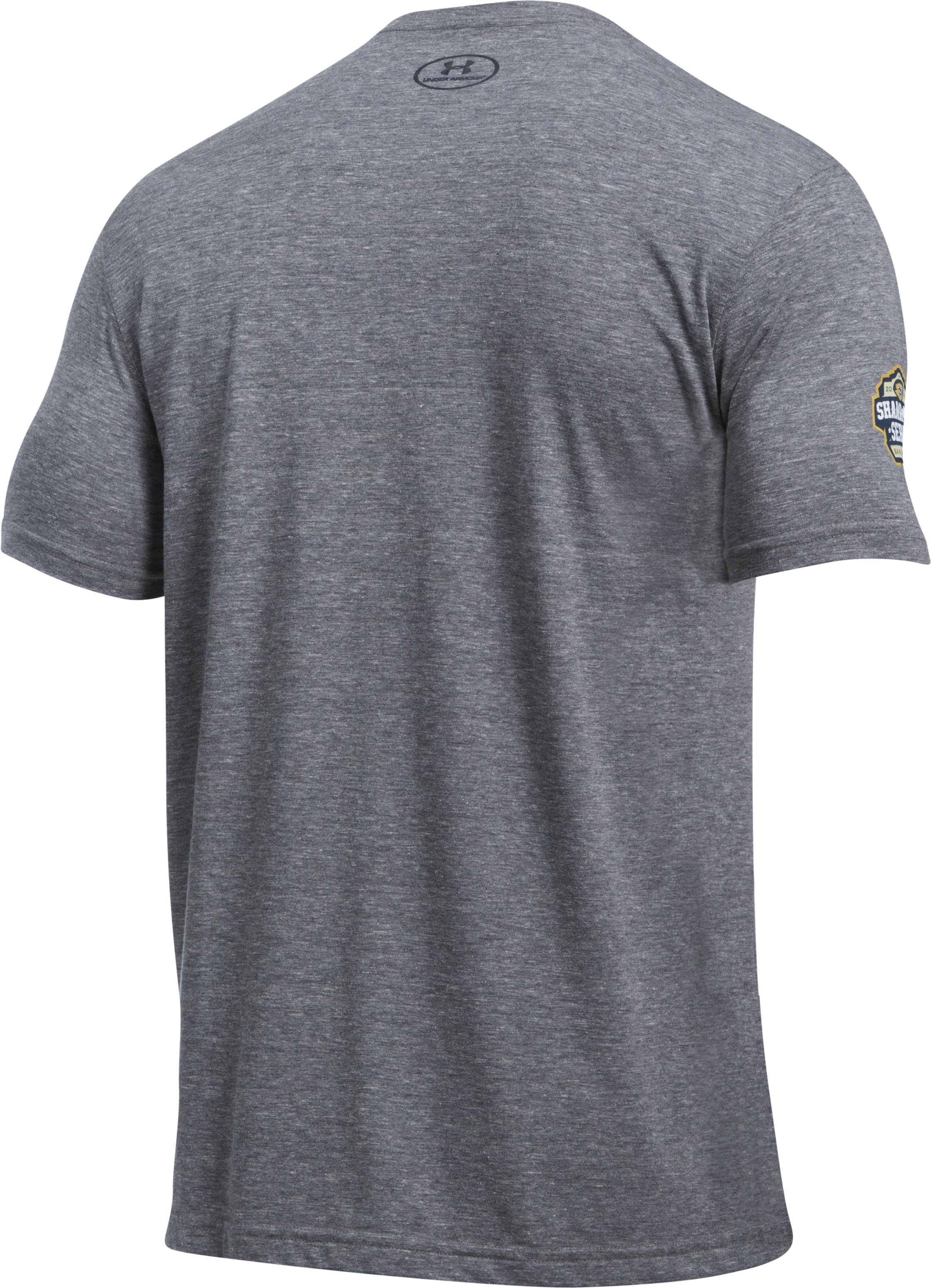 Men's Notre Dame UA 4 Corners T-Shirt, True Gray Heather,