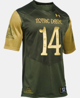 New Arrival Men's Notre Dame Shamrock Series UA Premier Football Jersey   $84.99