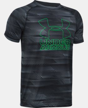 Best Seller Boys' UA Big Logo Hybrid Printed T-Shirt  8  Colors Available $12.5