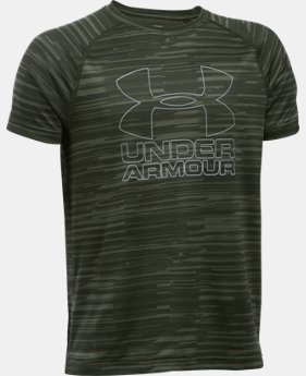 Best Seller Boys' UA Big Logo Hybrid Printed T-Shirt  2 Colors $12.5 to $19.99