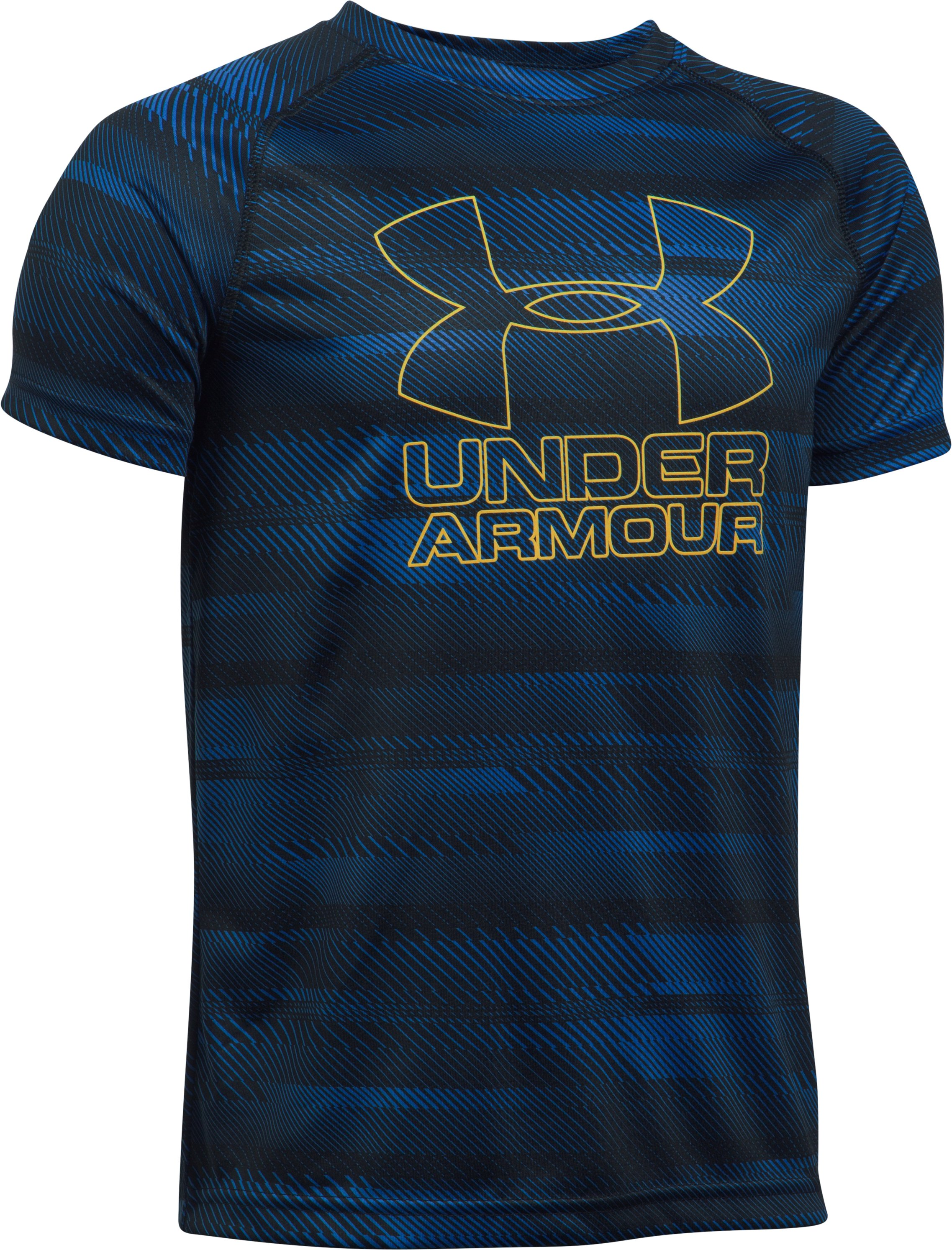 Boys' UA Big Logo Hybrid Printed T-Shirt, Royal,