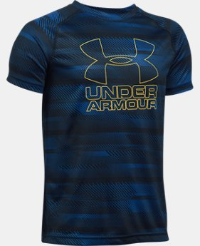 Best Seller  Boys' UA Big Logo Hybrid Printed T-Shirt  7 Colors $17.99