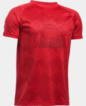 Best Seller Boys' UA Big Logo Hybrid Printed T-Shirt  3 Colors $19.99