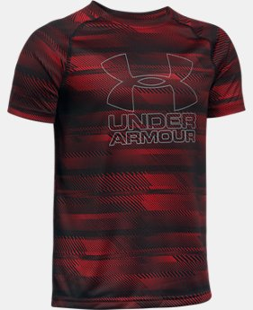 Best Seller Boys' UA Big Logo Hybrid Printed T-Shirt   $19.99