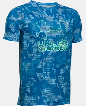 Best Seller  Boys' UA Big Logo Hybrid Printed T-Shirt  2 Colors $17.99