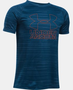 Best Seller Boys' UA Big Logo Hybrid Printed T-Shirt  1 Color $19.99