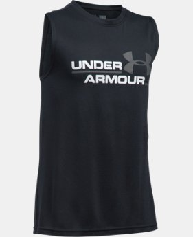 Boys' UA Double Header Tank  5 Colors $19.99