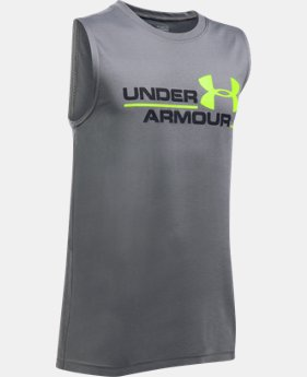 Boys' UA Double Header Tank  2 Colors $11.5 to $17.24