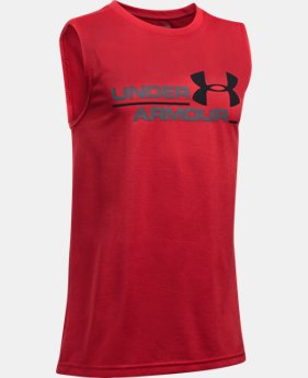 Boys' UA Double Header Tank  1 Color $17.24