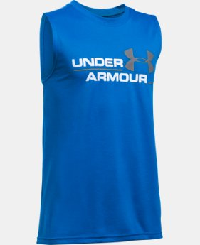 New Arrival Boys' UA Double Header Tank   $19.99