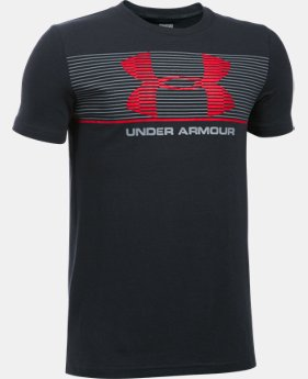 New Arrival  Boys' UA Chest Stripe T-Shirt   $22.99