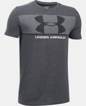New Arrival Boys' UA Chest Stripe T-Shirt  1 Color $19.99