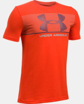 Boys' UA Chest Stripe T-Shirt  4 Colors $19.99