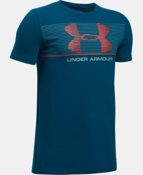 Boys' UA Chest Stripe T-Shirt  1 Color $19.99