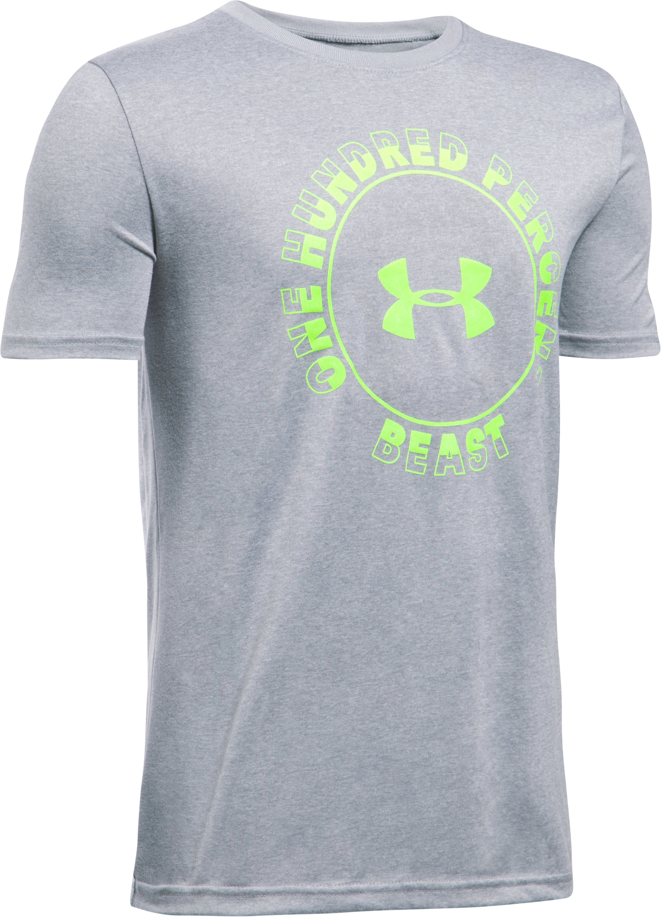 Boys' UA Beast Within T-Shirt, True Gray Heather, undefined