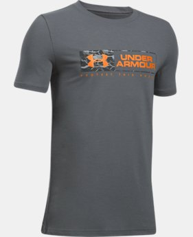 Boys' UA Knockout Bar Wordmark T-Shirt  1 Color $14.99