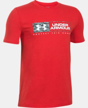 Boys' UA Knockout Bar Wordmark T-Shirt  1 Color $22.99