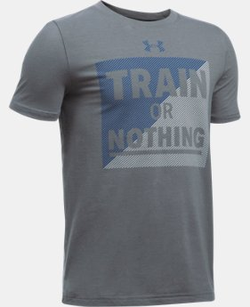 Boys' UA Train Or Nothing T-Shirt  1 Color $14.99