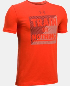 New Arrival  Boys' UA Train Or Nothing T-Shirt  1 Color $22.99