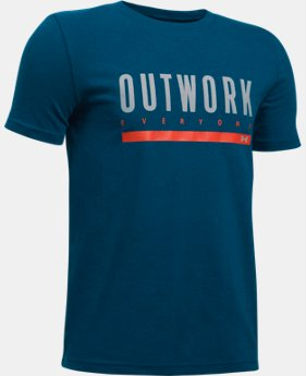 New Arrival Boys' UA Outwork Everyone T-Shirt  1 Color $24.99