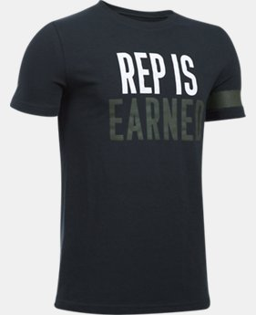 Boys' UA Rep Is Earned T-Shirt  1 Color $19.99
