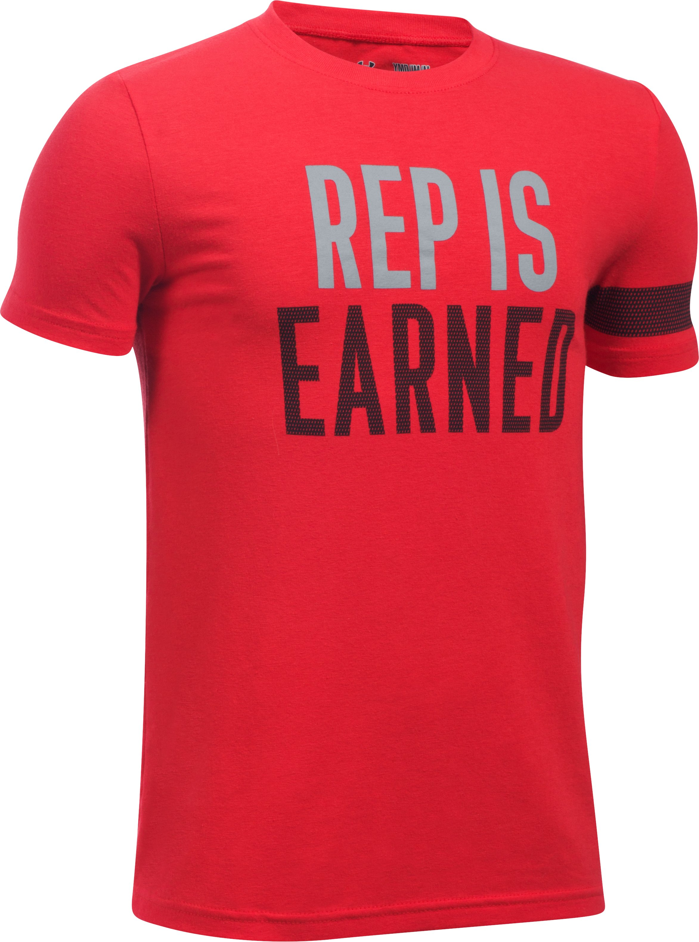 Boys' UA Rep Is Earned T-Shirt, Red,