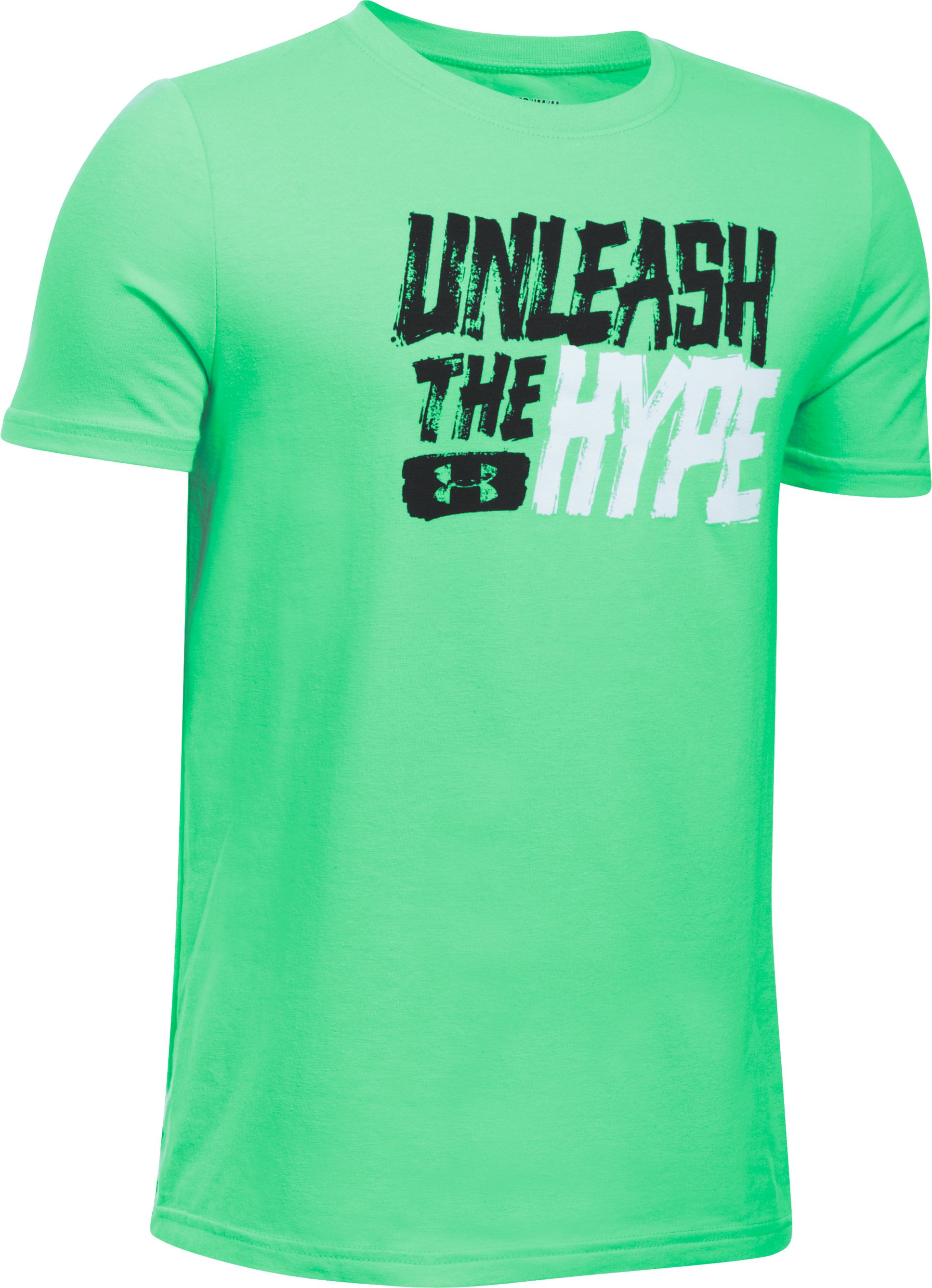 Boys' UA Unleashed T-Shirt, VAPOR GREEN, undefined