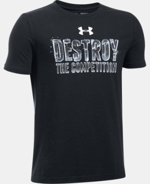 New Arrival Boys' UA Destroy The Competition T-Shirt  1 Color $19.99