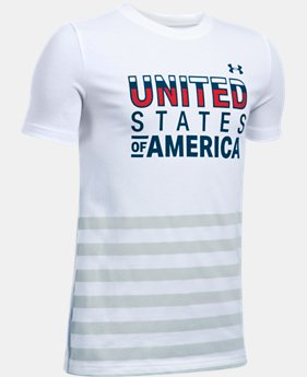 Boys' UA USA T-Shirt  1 Color $18.99