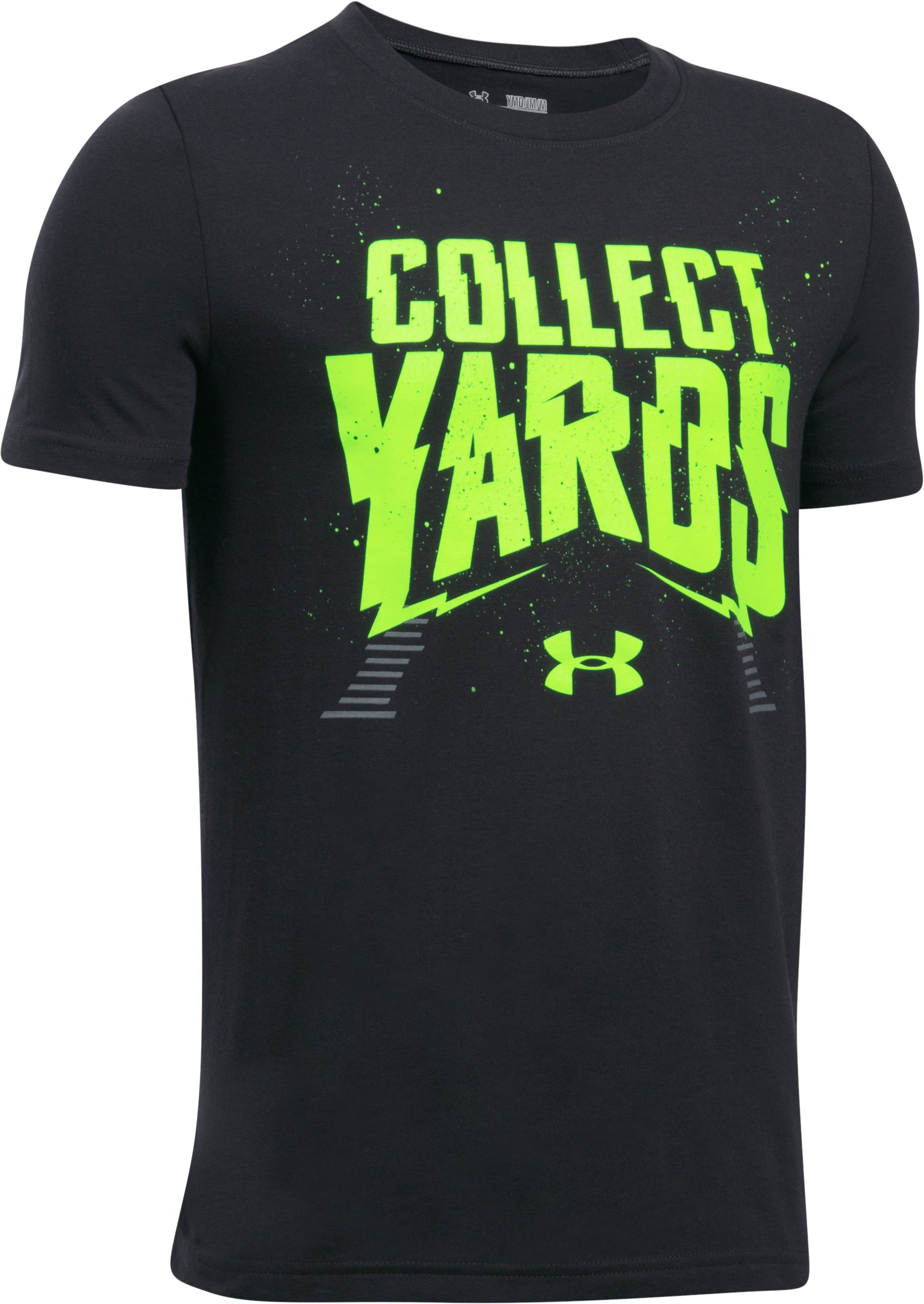 Boys' UA Collect Yards T-Shirt, Black ,