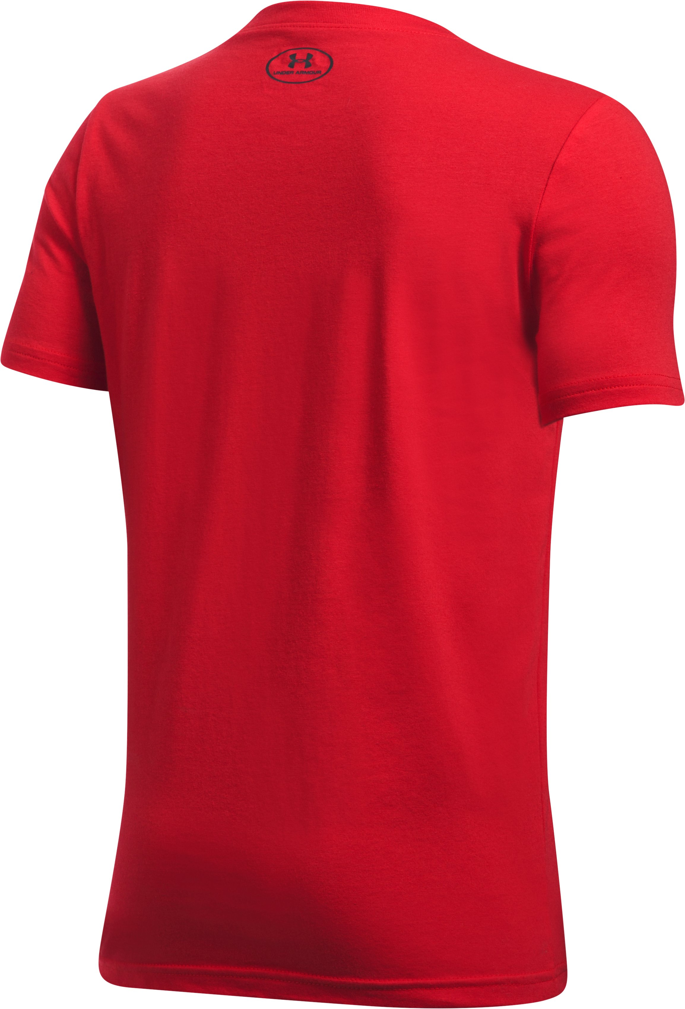Boys' UA Own The Field T-Shirt, Red,