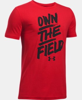 Boys' UA Own The Field T-Shirt  1 Color $19.99