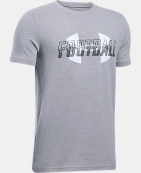 Boys' UA Football Overlay T-Shirt  1 Color $19.99
