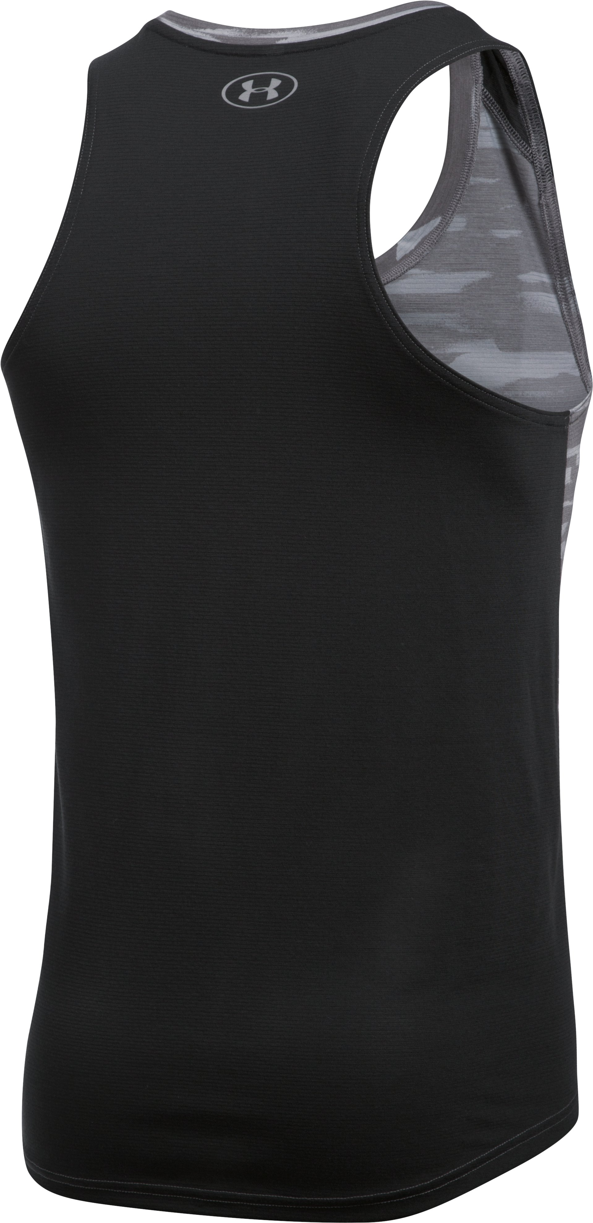 Men's UA Threadborne™ Run Mesh Singlet, STEALTH GRAY, undefined