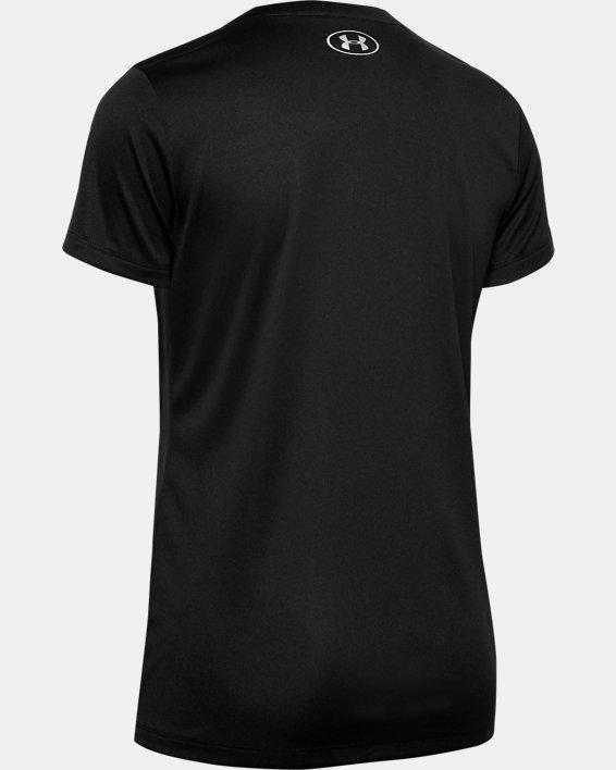 Women's UA Velocity V-Neck Short Sleeve, Black, pdpMainDesktop image number 5
