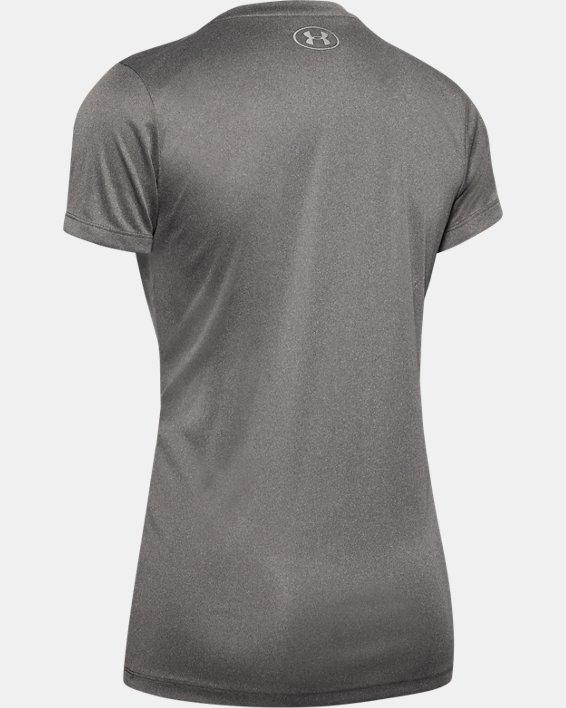Women's UA Velocity V-Neck Short Sleeve, Gray, pdpMainDesktop image number 3