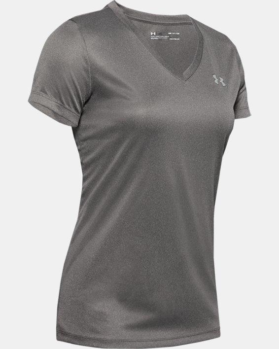 Women's UA Velocity V-Neck Short Sleeve, Gray, pdpMainDesktop image number 2