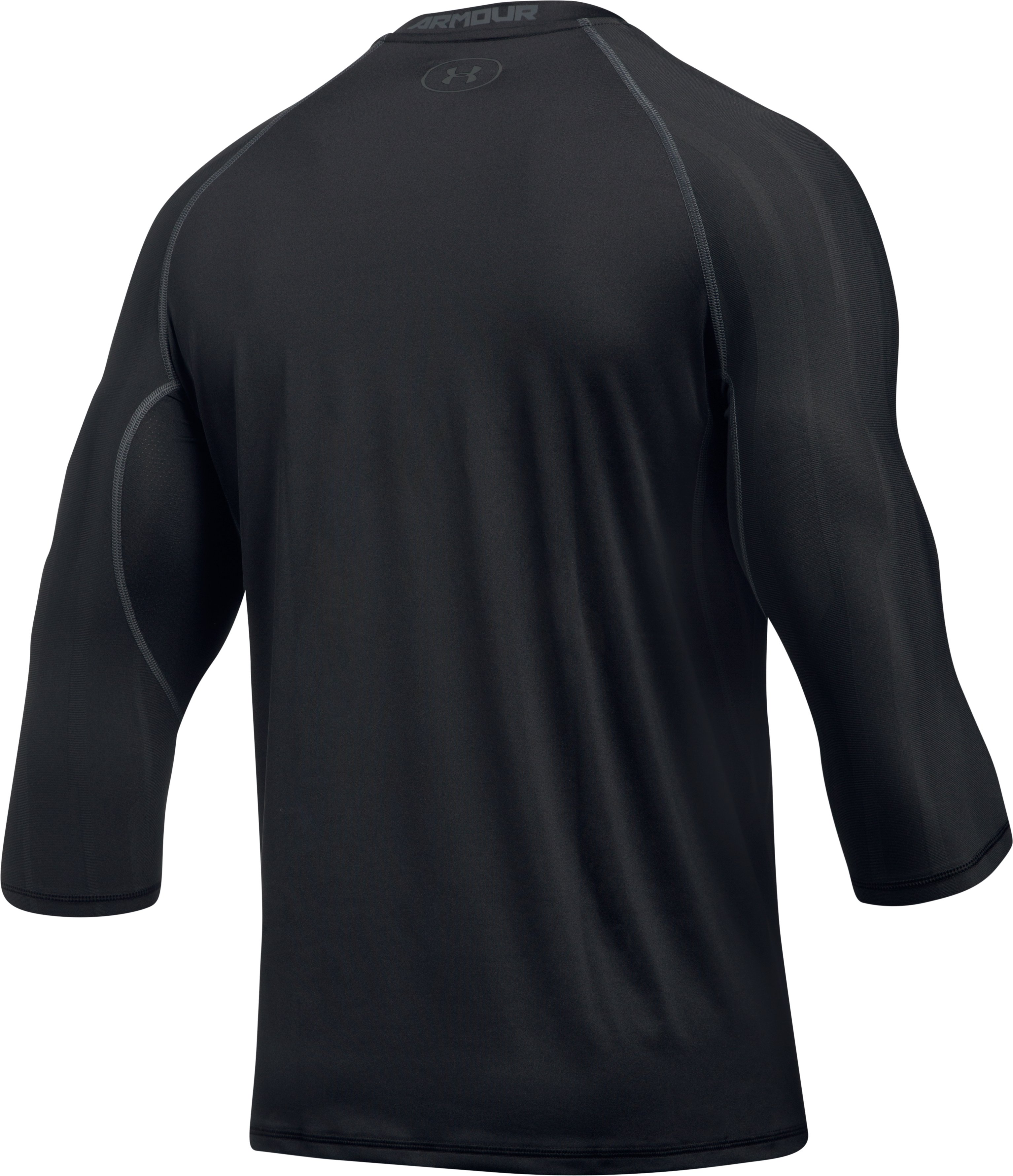 Men's HeatGear® Armour Zone Compression ¾ Sleeve T-Shirt, Black ,