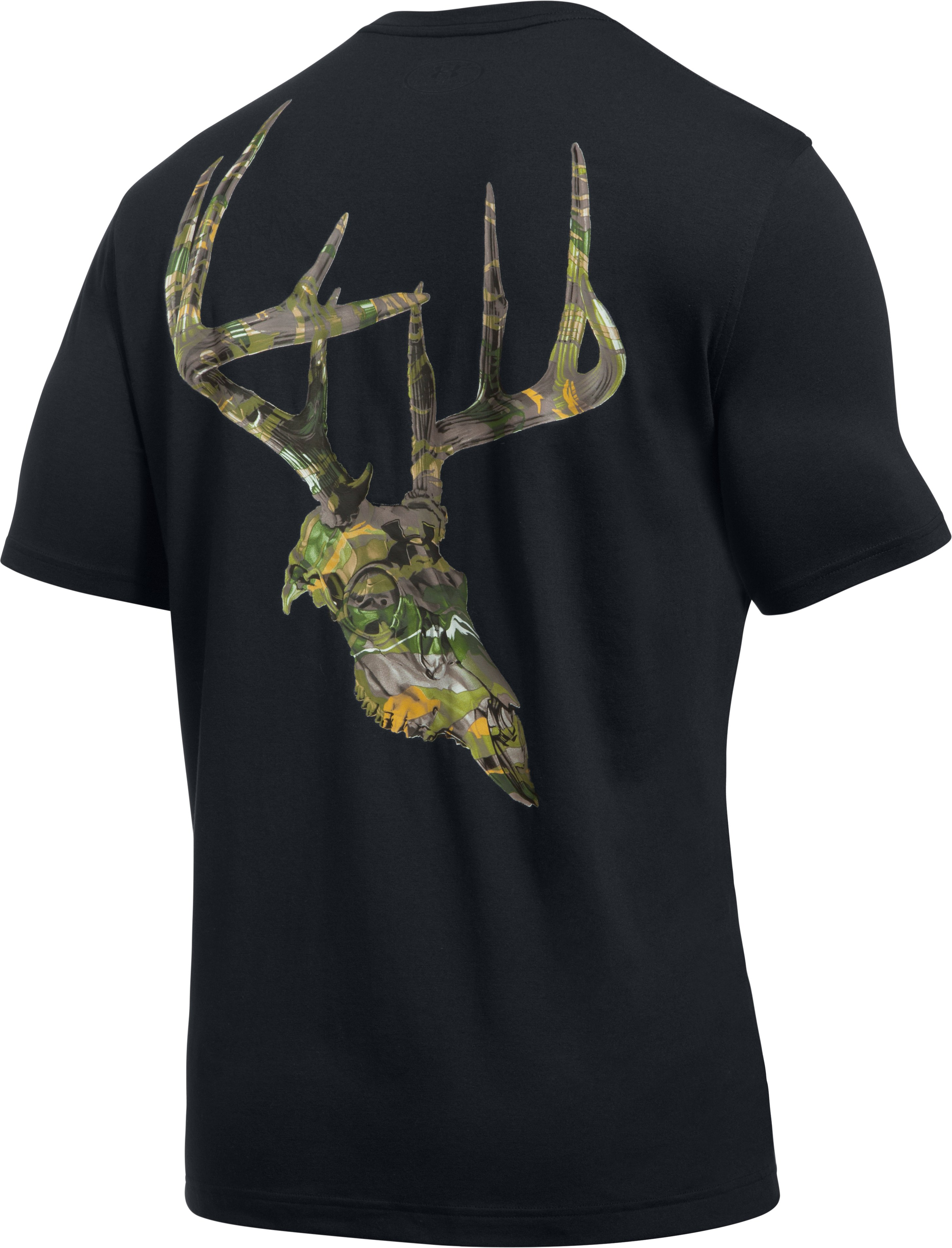 Men's UA Whitetail Skull T-Shirt, Black , undefined
