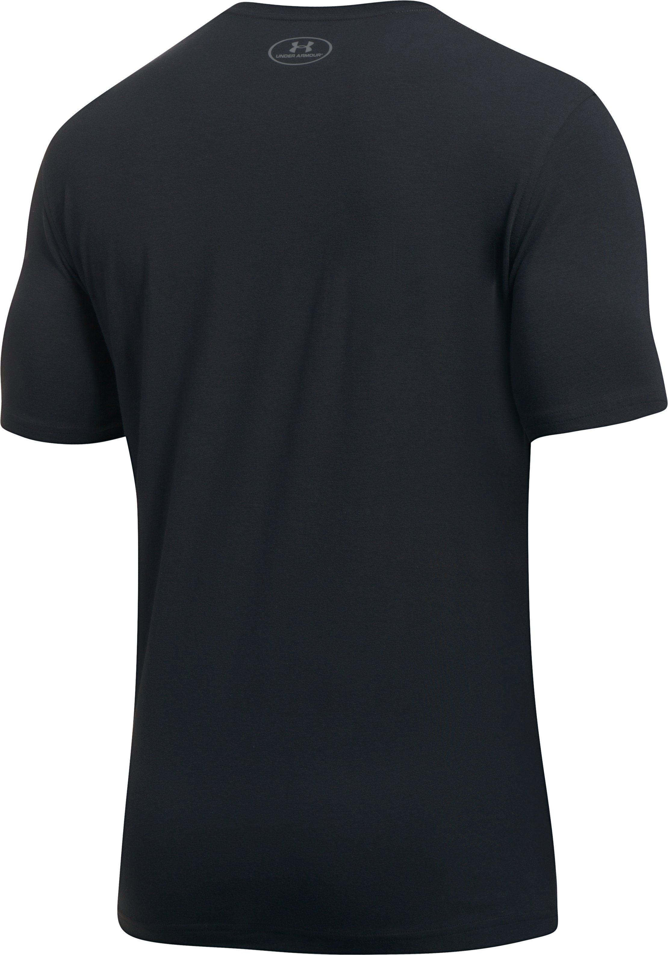 Men's UA Plate Logo T-Shirt, Black ,