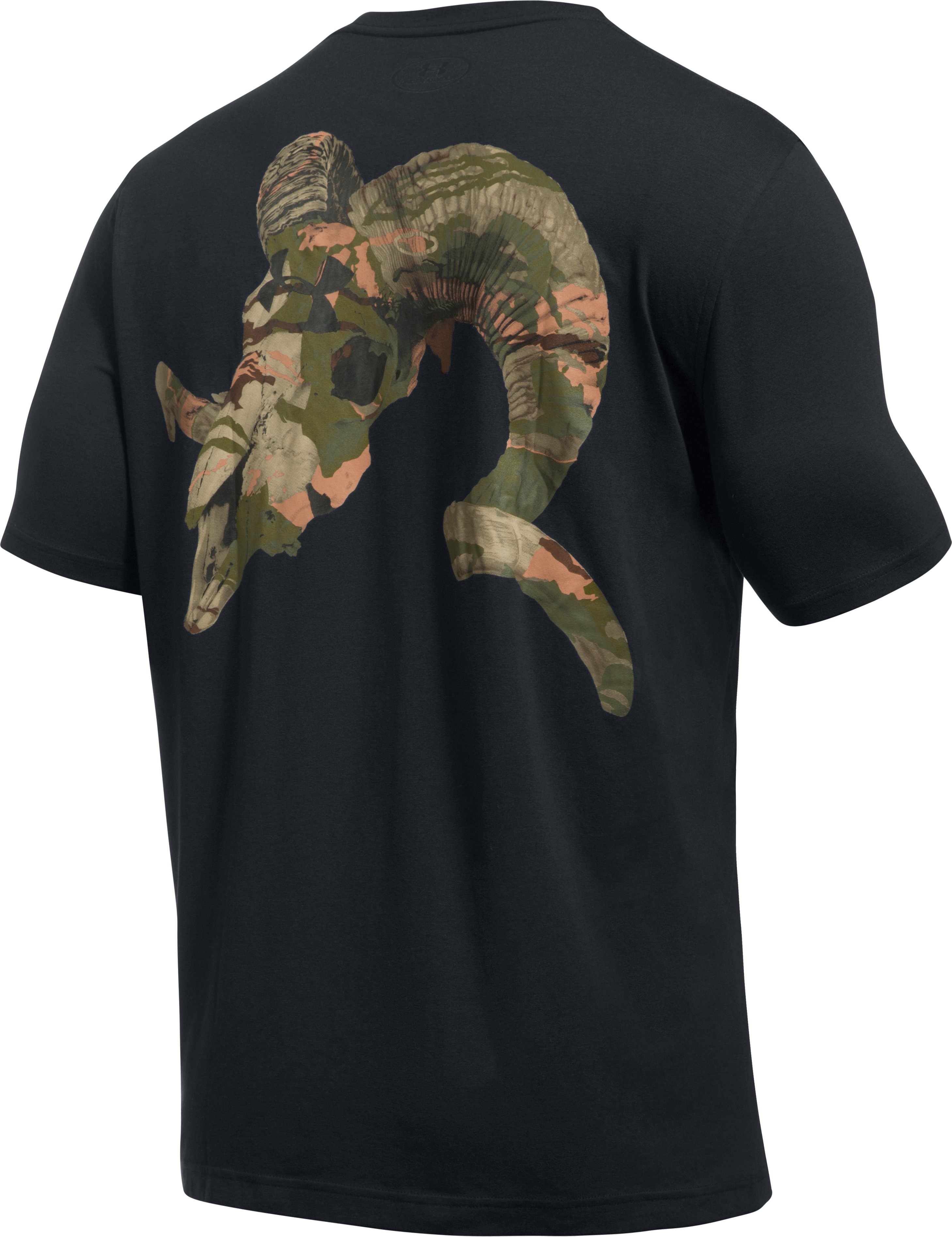 Men's UA Ram Skull T-Shirt, Black
