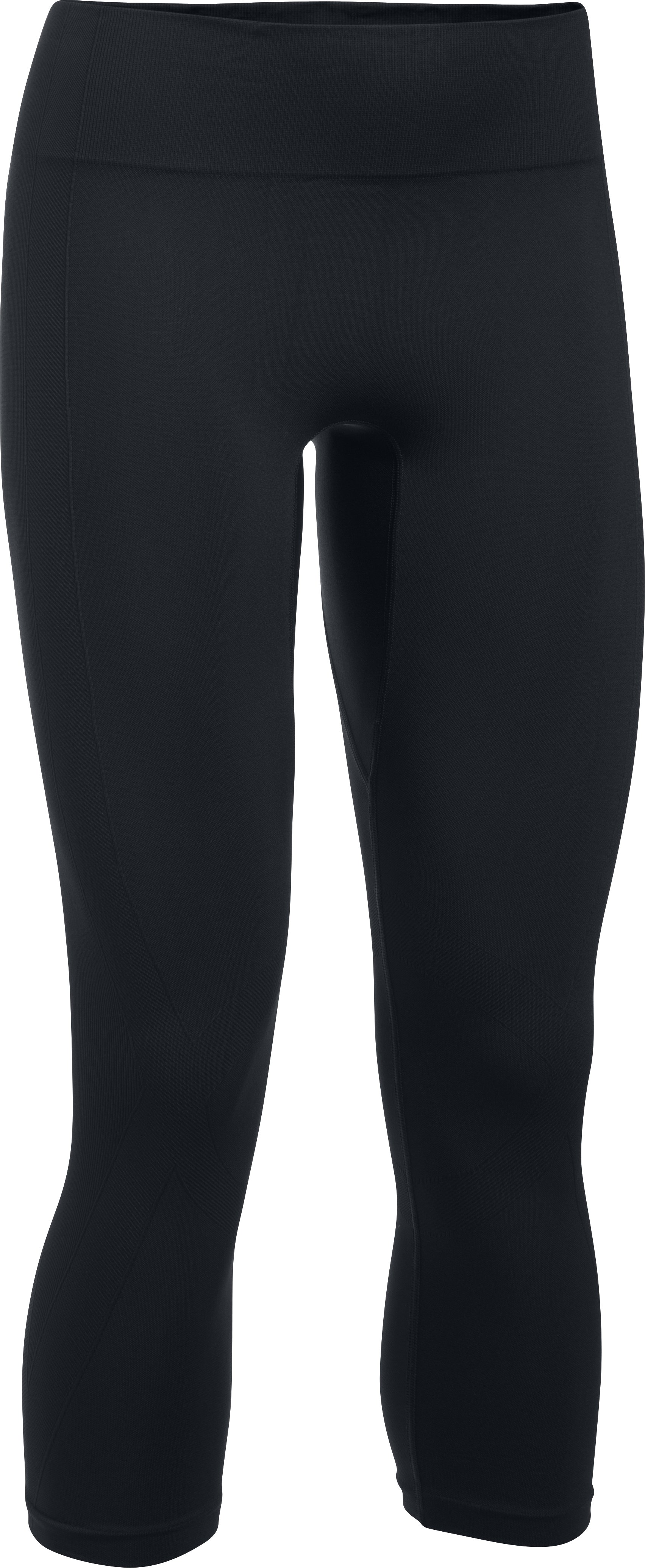 Women's UA Threadborne Seamless Crop, Black , undefined